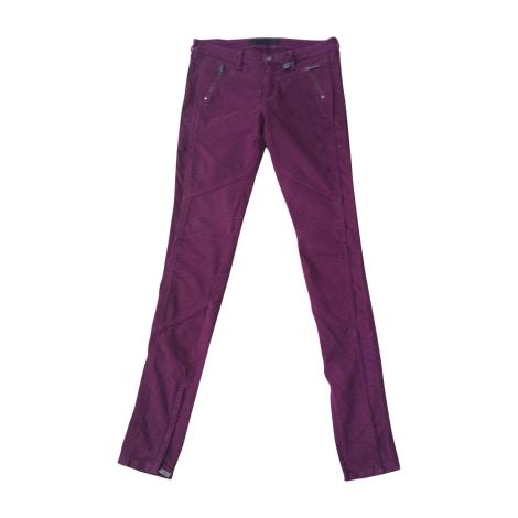 Jeans slim KARL LAGERFELD Rouge, bordeaux