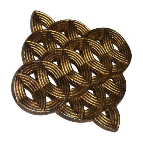 Broche LANVIN Doré, bronze, cuivre