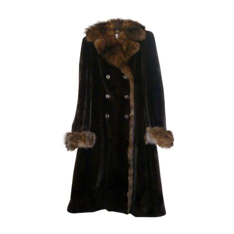 Manteau en fourrure VALENTINO Marron