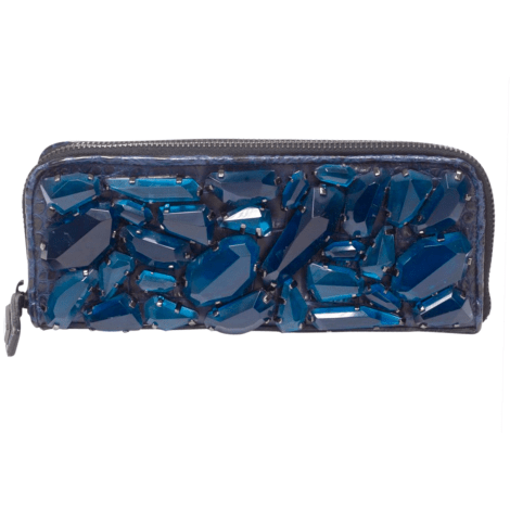 Sac pochette en cuir BURBERRY Bleu, bleu marine, bleu turquoise