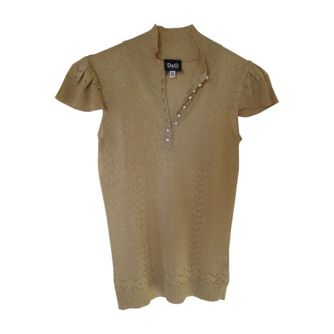 Top, tee-shirt D&G Doré, bronze, cuivre