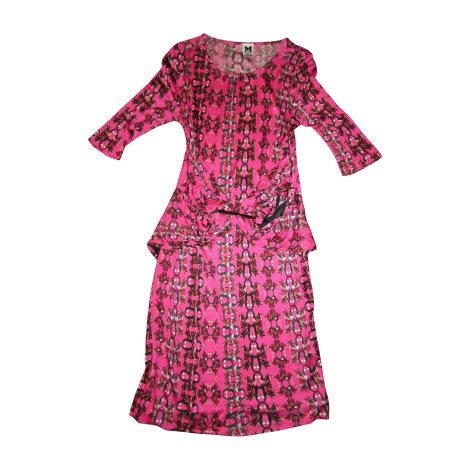 Robe courte MISSONI Rose, fuschia, vieux rose