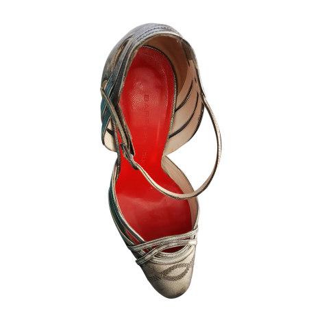 Sandales à talons BARBARA BUI Doré, bronze, cuivre