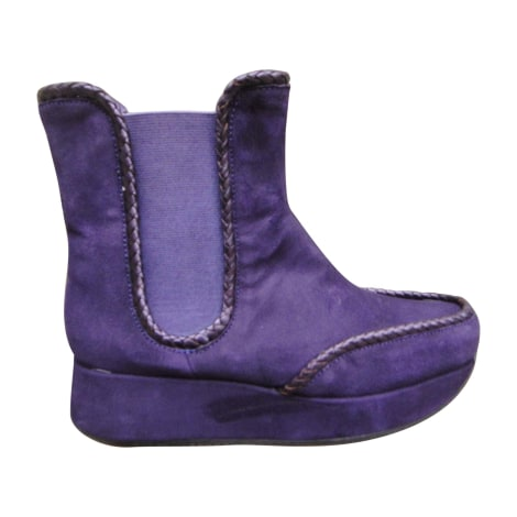 Bottines & low boots à compensés STEPHANE KÉLIAN Violet, mauve, lavande