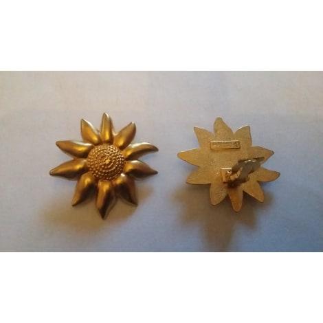 Boucles d'oreille LANCÔME Doré, bronze, cuivre