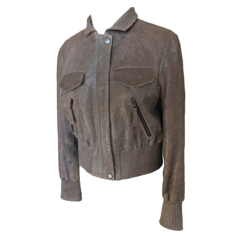 Blouson en cuir ONE STEP Gris, anthracite