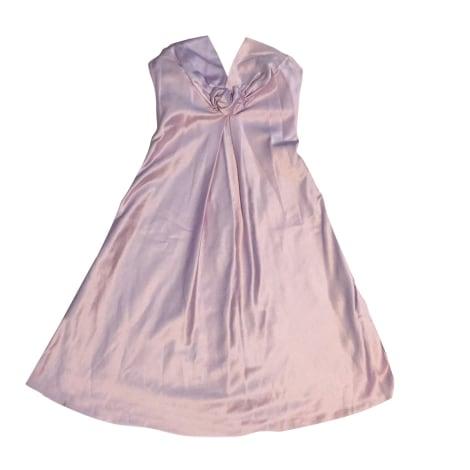 Robe courte TARA JARMON Violet, mauve, lavande
