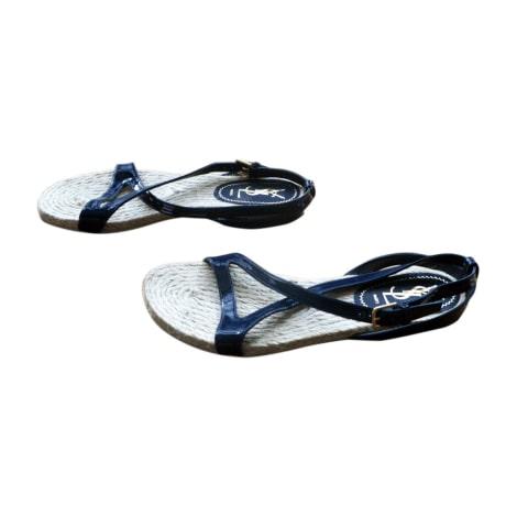 Flat Sandals YVES SAINT LAURENT Blue, navy, turquoise