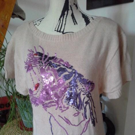 Top, tee-shirt PEPE JEANS Rose, fuschia, vieux rose