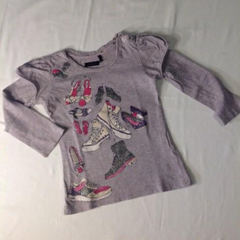 Top, tee shirt IKKS Gris, anthracite