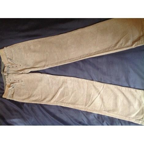Pantalon droit D&G Beige, camel