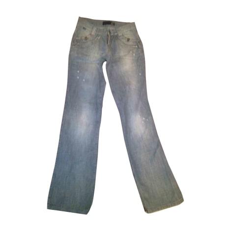 Jeans droit JUST CAVALLI Doré, bronze, cuivre