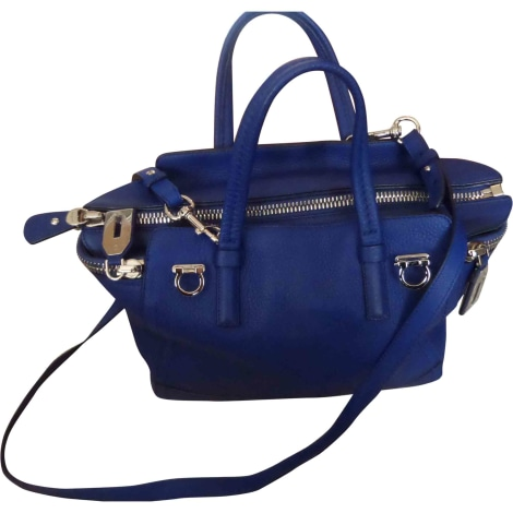 Sac en bandoulière en cuir SALVATORE FERRAGAMO Bleu, bleu marine, bleu turquoise