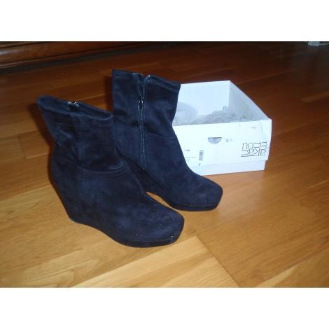 Bottines & low boots à talons A.MANOUKIAN Noir