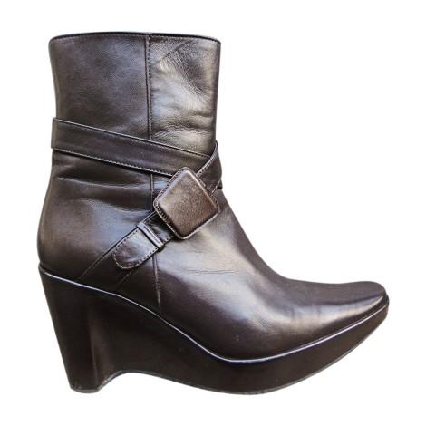 Bottines & low boots à compensés STEPHANE KÉLIAN Marron