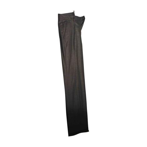 Pantalon droit YVES SAINT LAURENT Gris, anthracite