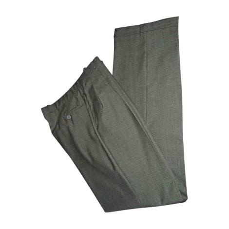 Pantalon droit YVES SAINT LAURENT Kaki