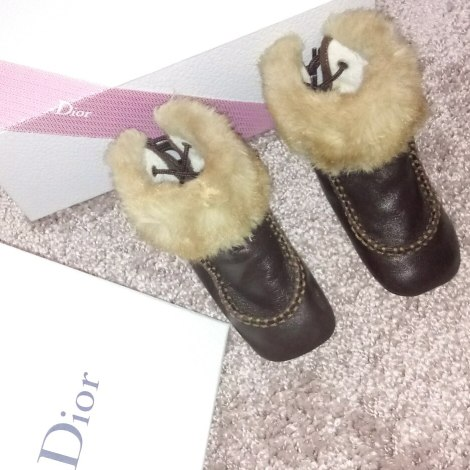 Bottines BABY DIOR Marron