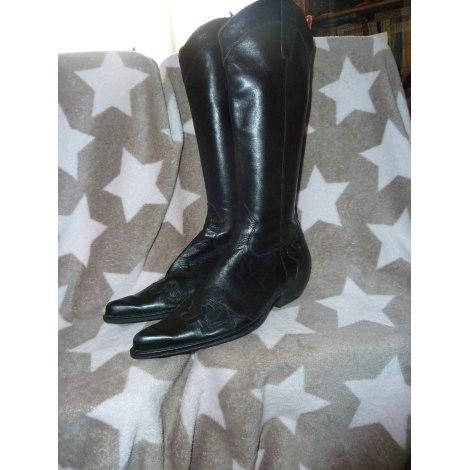 Santiags, bottines, low boots cowboy NAVYBOOT Noir