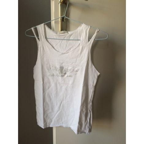 Top, Tee-shirt LULU CASTAGNETTE Blanc, blanc cassé, écru