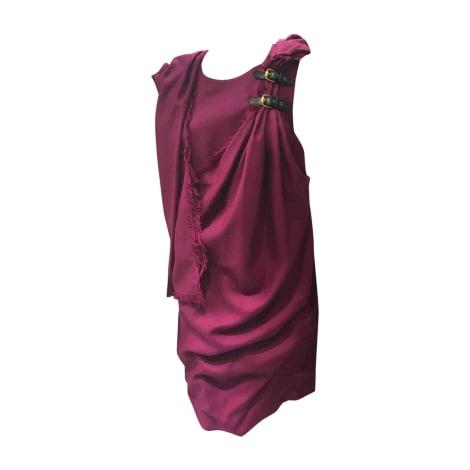 Robe courte GUCCI Rose, fuschia, vieux rose