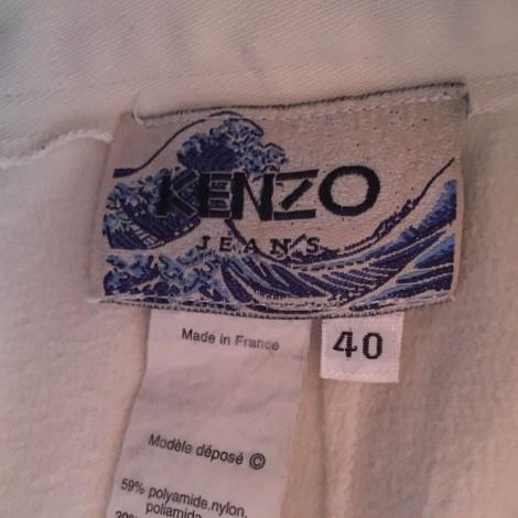 Jupe courte KENZO Blanc, blanc cassé, écru