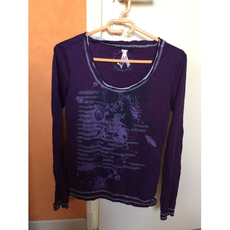 Top, tee-shirt TIMEZONE Violet, mauve, lavande