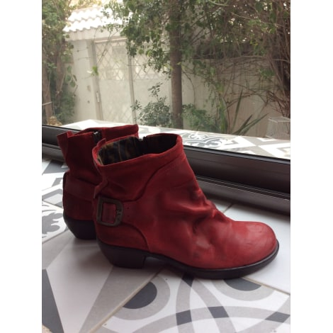 Bottines & low boots plates BEE FLY Rouge, bordeaux