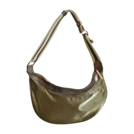 Sac en bandoulière en tissu GUCCI Hobo Doré, bronze, cuivre