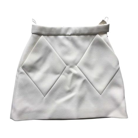 Jupe courte BALENCIAGA Blanc, blanc cassé, écru