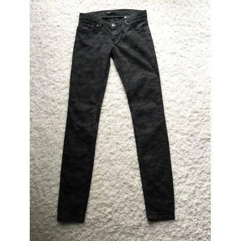 Jeans slim MAJE Camouflage noir marron