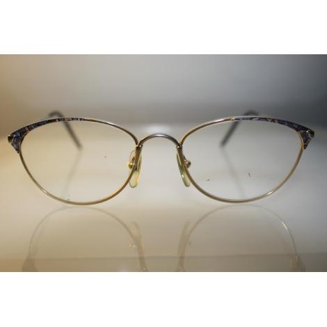 Monture de lunettes JEAN PATOU Or et bleue