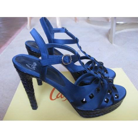 Sandales à talons CASTANER Bleu, bleu marine, bleu turquoise