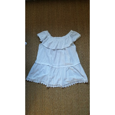 Top, tee-shirt MADE IN ITALY Blanc, blanc cassé, écru