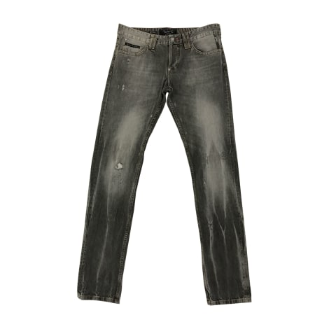 Jeans droit PHILIPP PLEIN Gris, anthracite