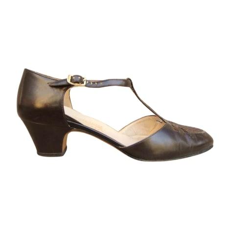 Sandales à talons SALVATORE FERRAGAMO Marron