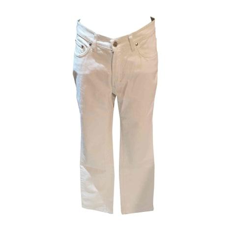 Jeans droit TRUSSARDI Blanc, blanc cassé, écru