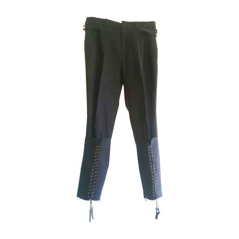 Pantalon slim, cigarette GUCCI Bleu, bleu marine, bleu turquoise