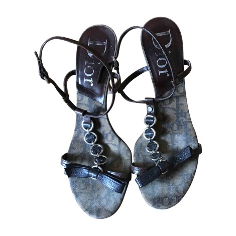 Sandales à talons DIOR Marron