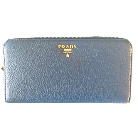Portefeuille PRADA Bleu, bleu marine, bleu turquoise