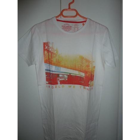 Tee-shirt PULL & BEAR Blanc, blanc cassé, écru