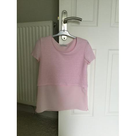 Top, tee-shirt SANDRO Rose, fuschia, vieux rose