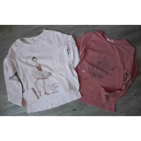 Top, Tee-shirt REPETTO Rose, fuschia, vieux rose