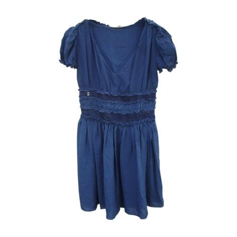 Robe mi-longue JOHN GALLIANO Bleu, bleu marine, bleu turquoise