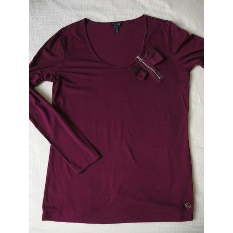 Top, tee-shirt ARMANI JEANS Violet, mauve, lavande
