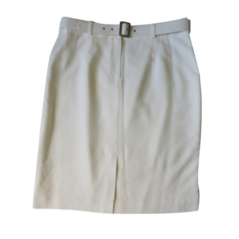Jupe mi-longue GERARD DAREL Blanc, blanc cassé, écru