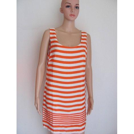Robe courte CHARLISE Orange/Ecru