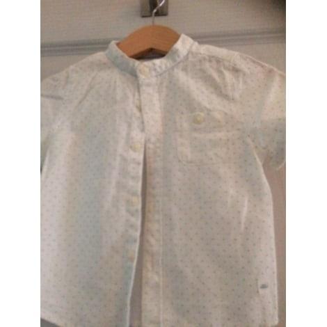 Blouse, Short-sleeved Shirt ZARA White, off-white, ecru