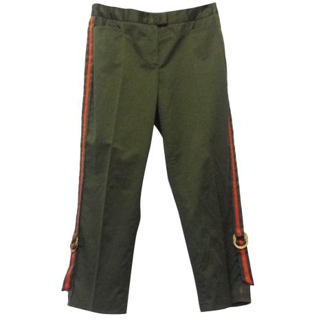 Pantalon slim, cigarette ICEBERG Vert