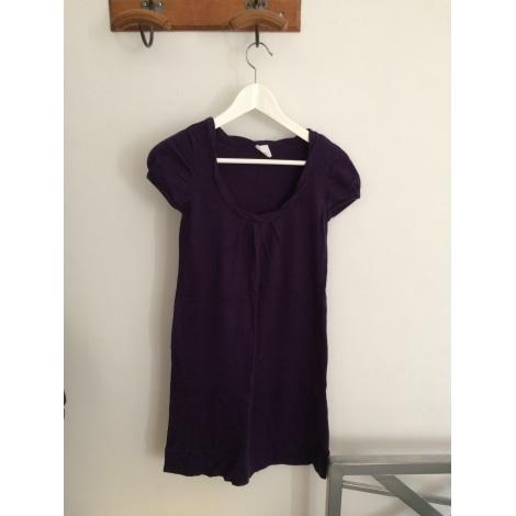 Robe pull CAMAIEU Violet, mauve, lavande